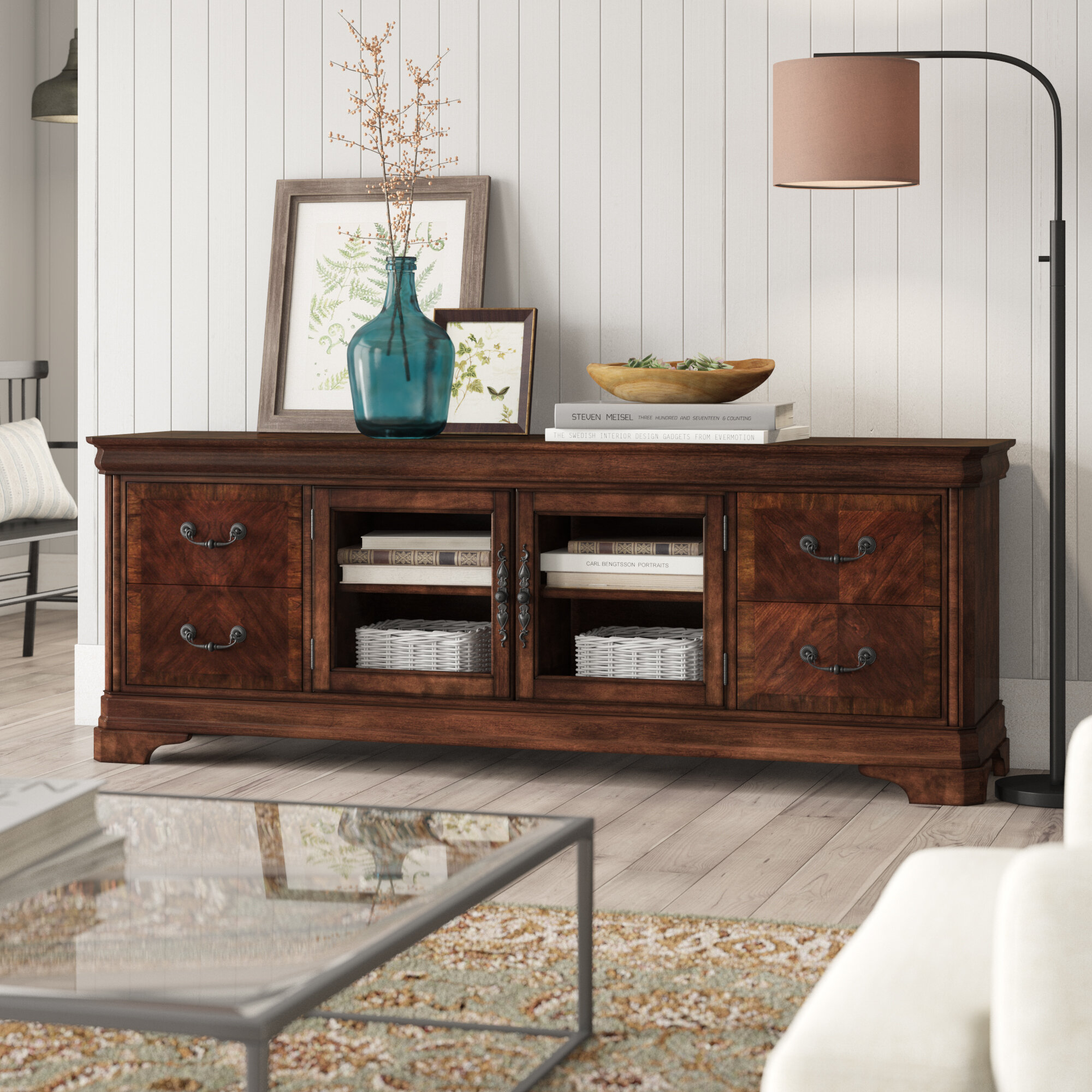 Johnston Solid Wood Tv Stand For Tvs Up To 88 Reviews Birch Lane