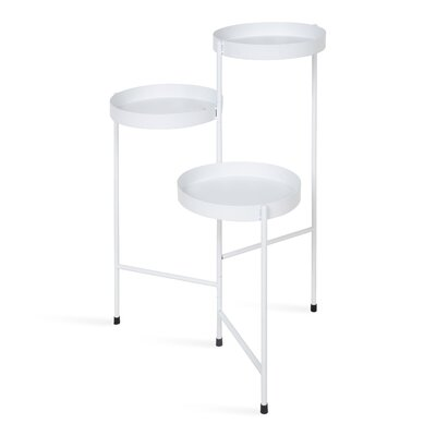 Mercury Row Lofgren Metal Multi-Tiered Plant Stand Color: White