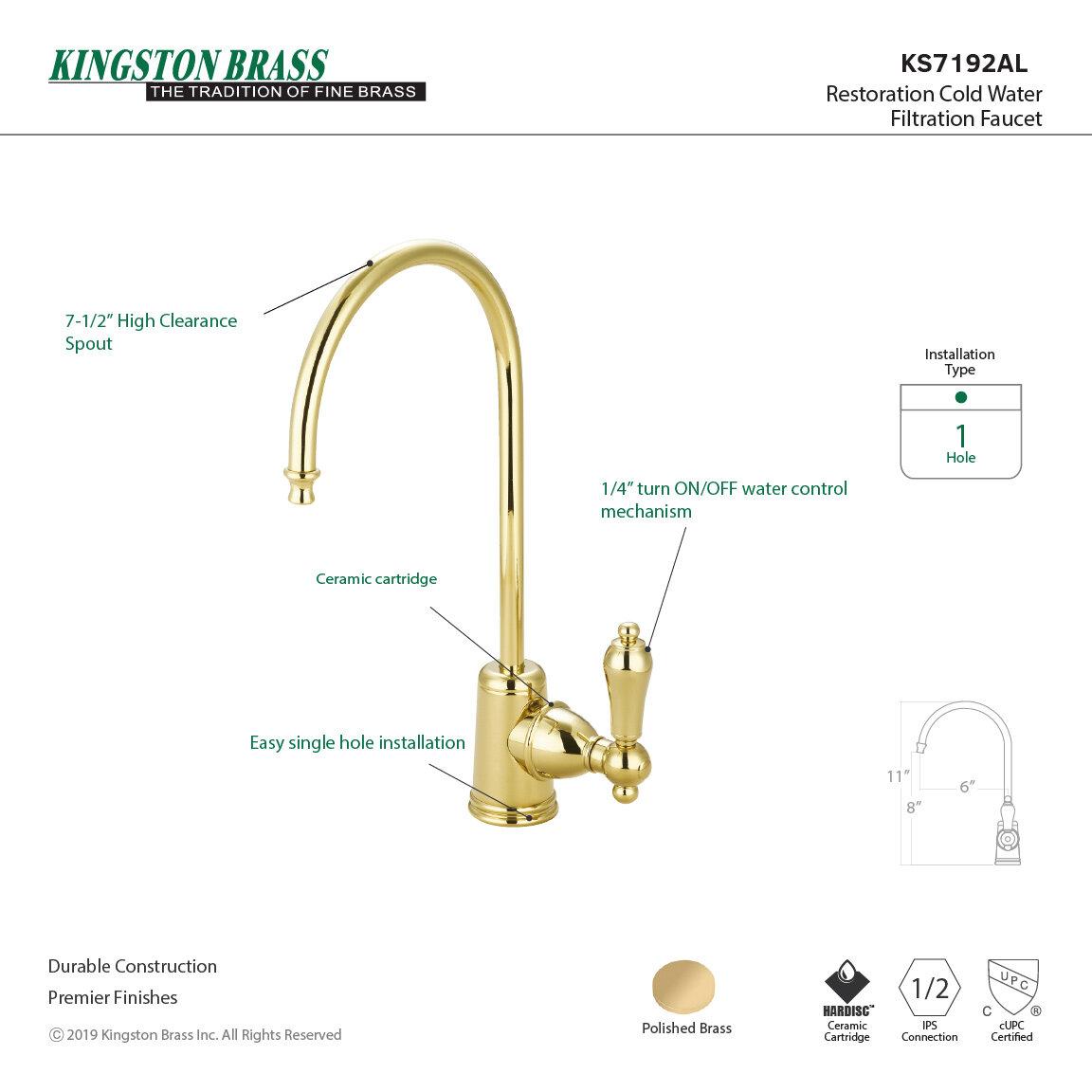 Kingston Brass Restoration Single Handle Kitchen Faucet Reviews Wayfair