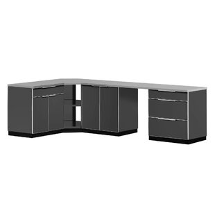 Outdoor Kitchen Set 184 W x 24 D 6 Pieces Aluminum by NewAge Products