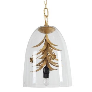 A&B Home 1-Light Bell Pendant