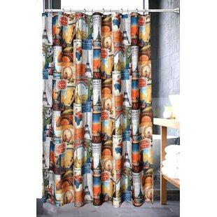 Online Reviews Eugene Bath Paris Collage Shower Curtain ByWinston Porter