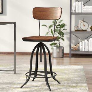Fennimore Adjustable Height Swivel Bar Stool by Trent Austin Design