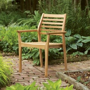 Huggins Stacking Patio Dining Chair (Set of 4)