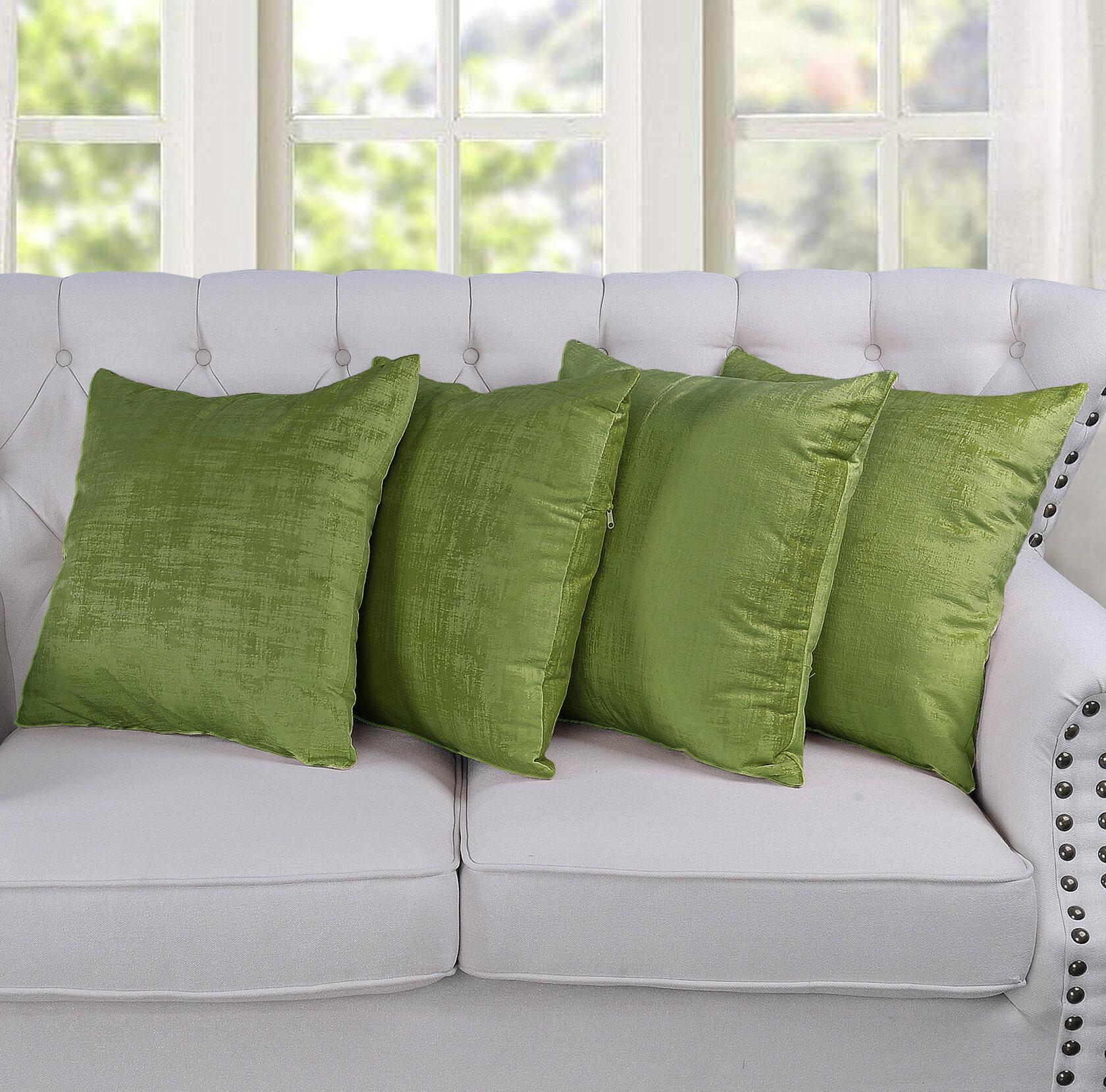 Green Throw Pillows Free Shipping Over 35 Wayfair
