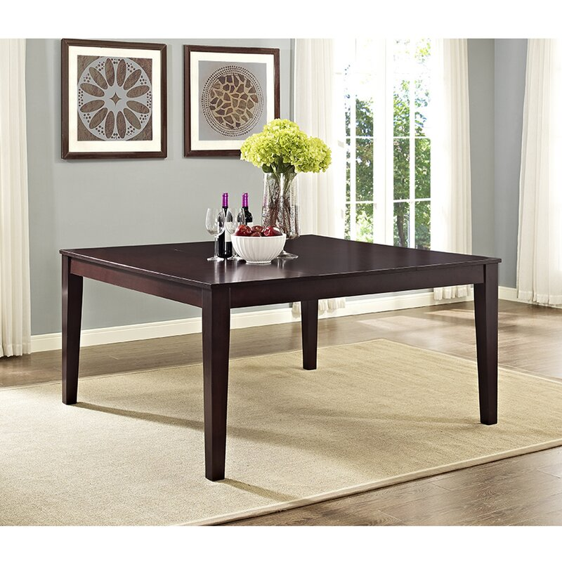 darby home co roquefort square dining table & reviews | wayfair