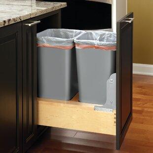 Rev-A-Shelf Plastic 12.5 Gallon Pull Out Trash Can