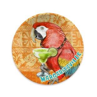Margaritaville Parrot Batik Melamine 8.5