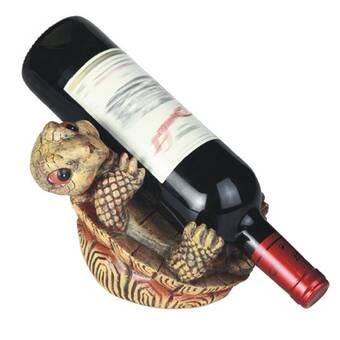 House Of Hampton Embree 1 Bottle Tabletop Wine Bottle Rack In Bronze Wayfair