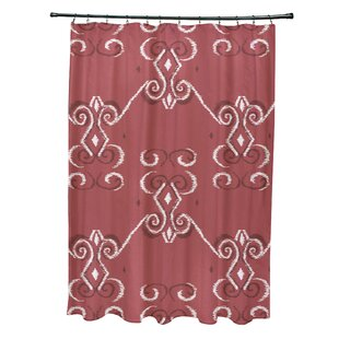 On The Line Geometric Print Single Shower Curtain by e by design Fresh