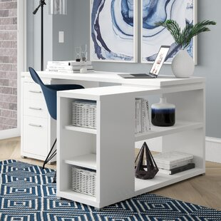 Senga L-Shape Executive Desk Mercury Row