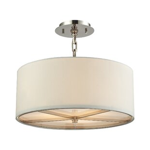 Ebern Designs Montross 3-Light Drum Chandelier