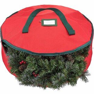 "21/"" Diameter Wreath Storage Bag 5.5/"" H Non Woven w//clear Top Zipper /& Handle"