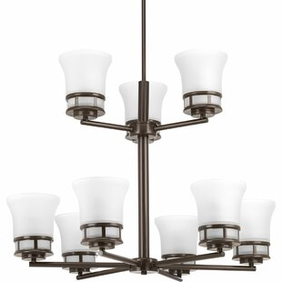 Red Barrel Studio Tashina 9-Light Shaded Chandelier