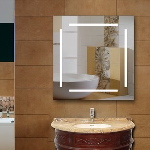 Read Reviews Havens LED Bathroom/Vanity Mirror By Orren Ellis