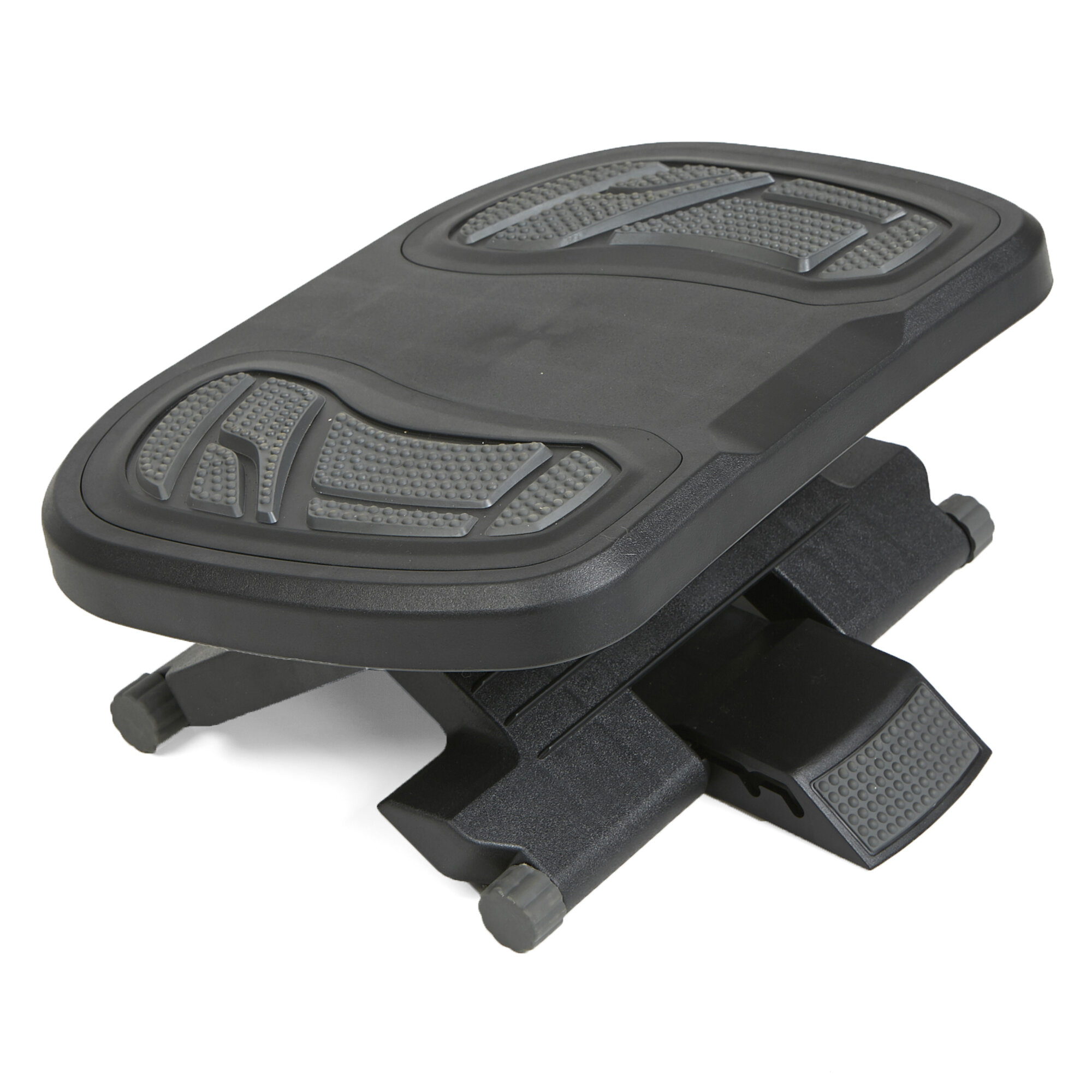 Mind Reader Adjustable Height Under Desk Non Slip Ergonomic Foot Rest With Foot Prints Reviews Wayfair