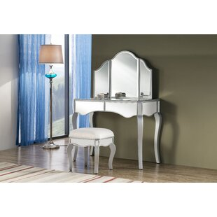 Dangelo Vanity Set with Mirror by Rosdorf Park
