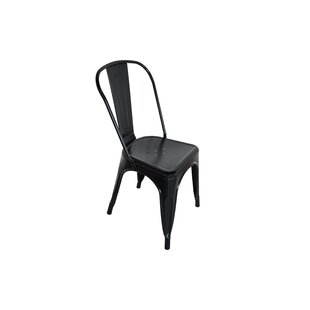Burns Steel Stacking Patio Dining Chair (Set of 4) by Williston Forge