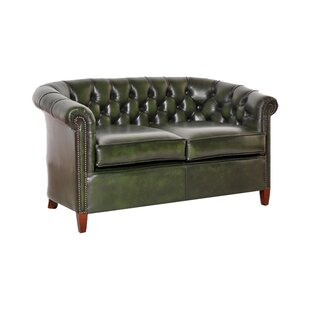 Istres Genuine Leather 3 Seater Chesterfield Sofa By Rosalind Wheeler