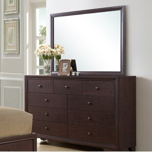 Angarano 9 Drawer Dresser with Mirror