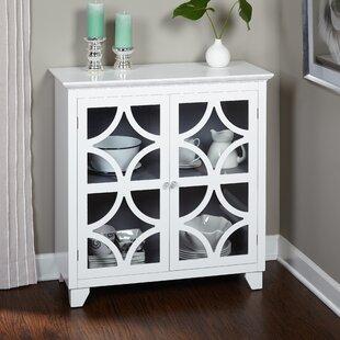 Tall White Cabinet Glass Doors Wayfair
