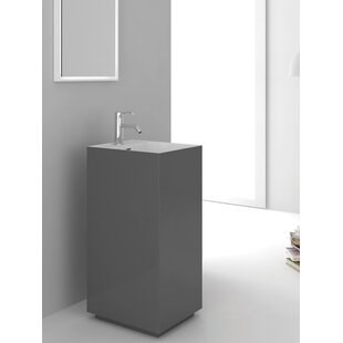 Savings Springhill Gray Pedestal By Fine Fixtures