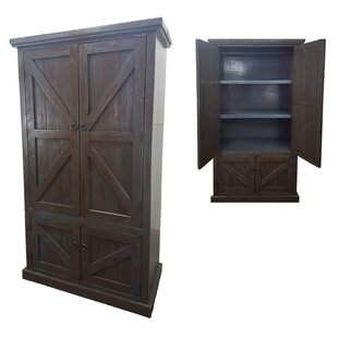 Best Reviews Kellogg Rustic Double Door Armoire By Union Rustic