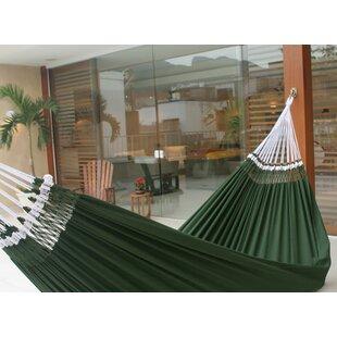 Double Person Fair Trade Portable Hand-Woven Brazilian Cotton Indoor And Outdoor Hammock by Novica