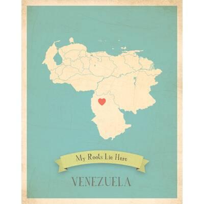 Children Inspire Design My Roots Venezuela Personalized Map Paper ...