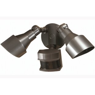 Heath-Zenith 100-Watt Outdoor Security Flood Light with Motion Sensor