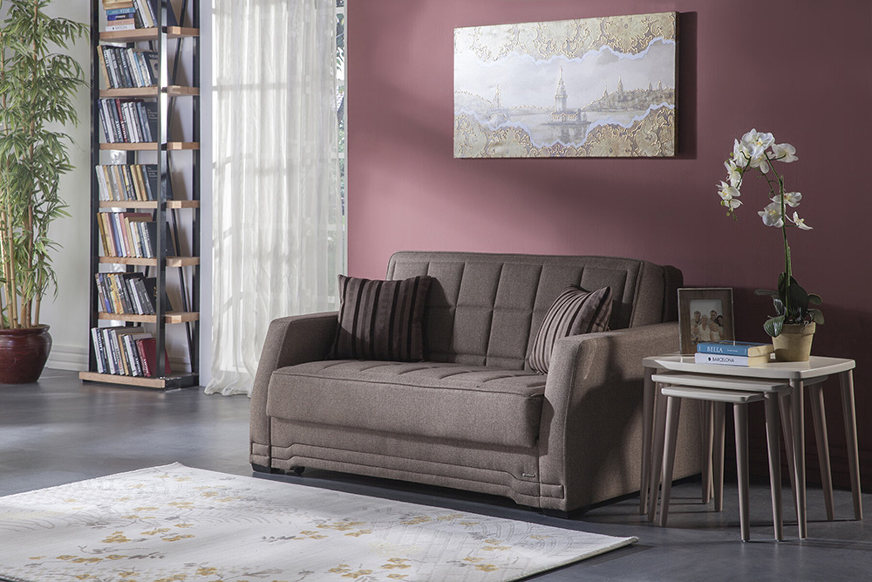 Ebern Designs Thoreau Convertible Sleeper Sofa Wayfair