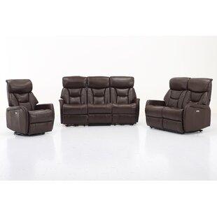 Grip Reclining 3 Piece Living Room Set (Set of 3) ByRed Barrel Studio