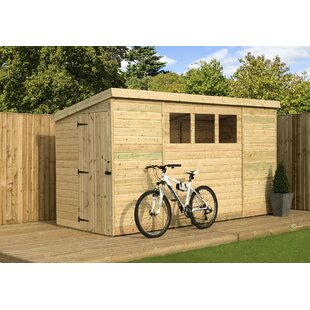 4 Ft. W X 14 Ft. D Shiplap Pent Wooden Shed By WFX Utility