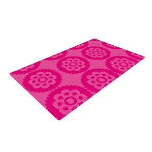 Nicole Ketchum Moroccan Hot Pink Area Rug