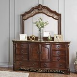 Caulfield 8 Drawer Chest with Mirror by Fleur De Lis Living