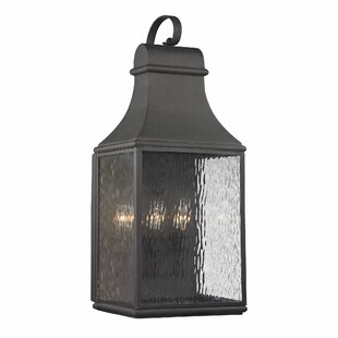 August Grove Negron 3-Light Outdoor Wall Lantern