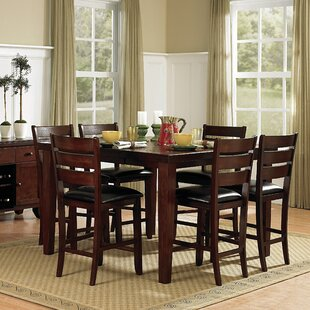 Leonetti 7 Piece Extendable Solid Wood Dining Set by Millwood Pines Coupont