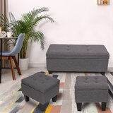 Ackerly 42.1 Tufted Rectangle Storage Ottoman by Zipcode Design™