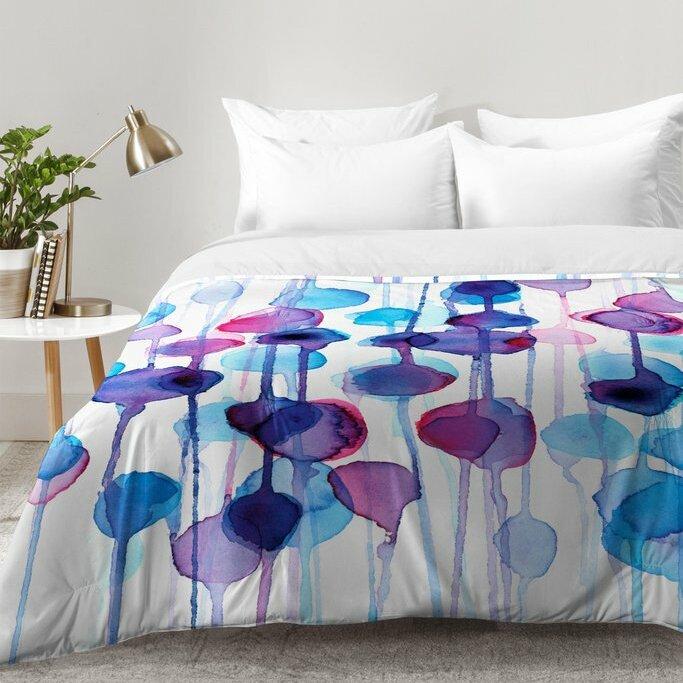 Relatively East Urban Home Watercolor Comforter Set | Wayfair XD87