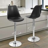 Avawatz Swivel Adjustable Height Bar Stool (Set of 2) by Orren Ellis