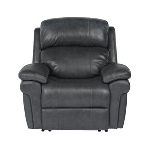 Dipaolo Luxe Leather Power Reclining Chair by Red Barrel Studio