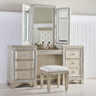 Read Reviews Tiffany Vanity with Mirror By Fairfax Home Collections