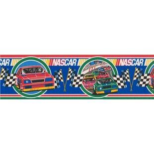NASCAR Racing Cars Sports Retro Design 15' L x 7'' W Wallpaper Border ByRetro Art