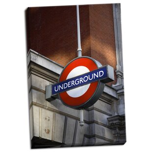 5f30fdc72e4  London Underground  Photographic Print on Wrapped Canvas