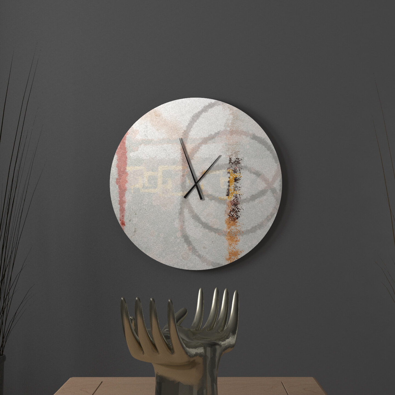 Ebern Designs Consentaneous Stirring Abstract Wall Clock Wayfair