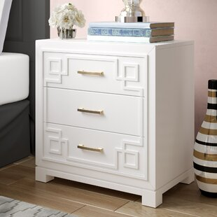 Bindera 3 Drawer Nightstand