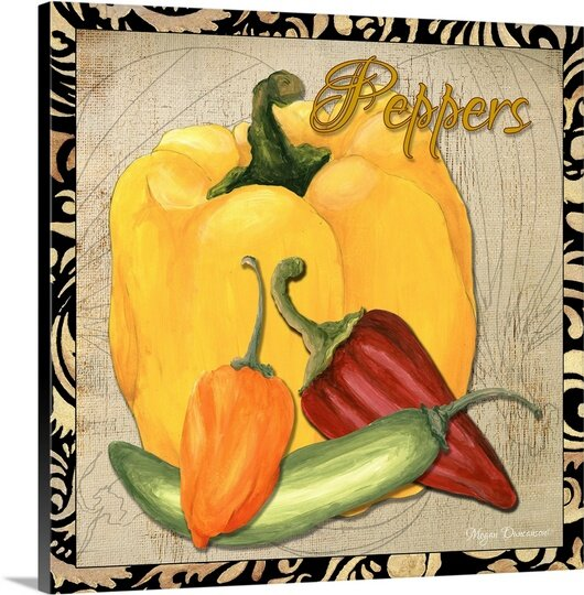'Vegetables Peppers' by Megan Duncanson Graphic Art Print