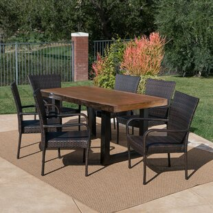 Staten Outdoor 7 Piece Dining Set
