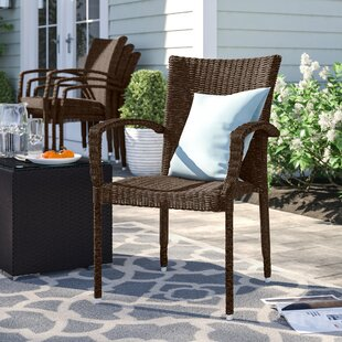 Brighton Stacking Patio Dining Chair (Set of 4)