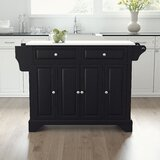 Baillargeon Kitchen Island with Granite Top by August Grove®